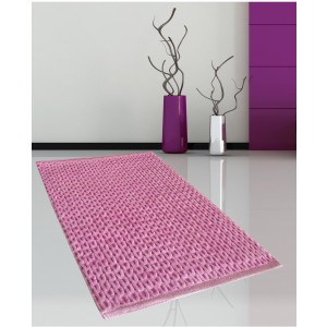 SL Πατάκι Μπάνιου ροζ 50x80,Cotton Chenille(2335)