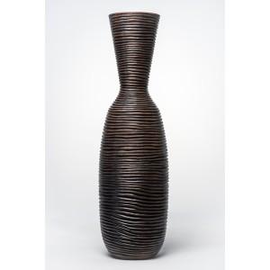 IDEA HOME Βάζο Δαπέδου Σαγρέ Πολυεστέρας Καφέ(35738)
