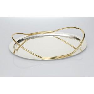 Δίσκος Επάργυρος Διακοσμημένος με Χρυσό(Φ35εκ.),Μαργαρίτα(8811PNT)