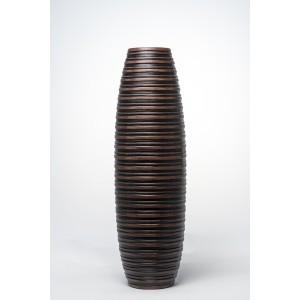 IDEA HOME Βάζο Δαπέδου Σαγρέ Πολυεστέρας Καφέ(35726)