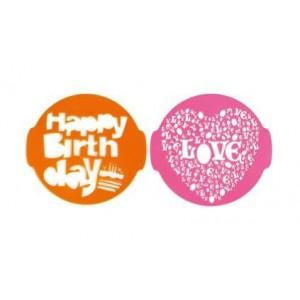 Pavonidea Μάσκα Ζάχαρης Για Διακόσμηση Γλυκών Birthday & Love