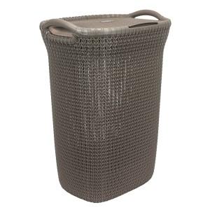 Curver Knit Καλάθι Απλύτων Καφέ 57lt(45x34x61cm)