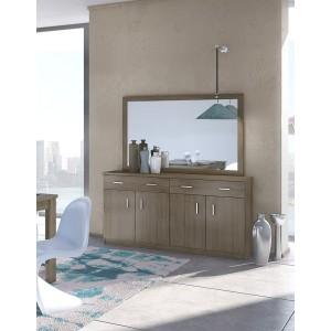 Μπουφές με Καθρέφτη Νο1 160x84x40cm (Moka)