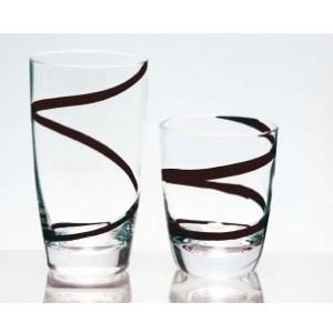 Ποτήρια Κρασιού 6 τεμαχίων Trio Spiral Black