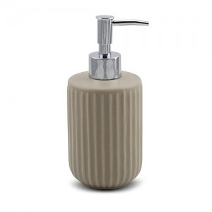 Ντισπένσερ μπάνιου stoneware μπεζ Y18x8cm 10-222-010