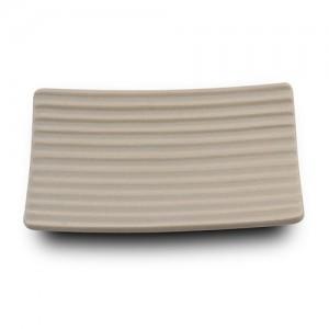 Σαπουνοθήκη stoneware μπεζ Y2.7x13x10cm 10-222-012