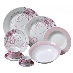 Σερβίτσιο Πιάτων 20 Τεμαχίων Home Fashion TM Floral (5401009)