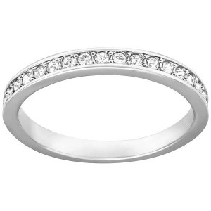 Swarovski Δαχτυλίδι Βέρα No55 Επιπλατινωμένο Rare (1121067)
