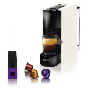 Krups XN1101S Essenza Mini Pure White Kαφετιέρα Nespresso