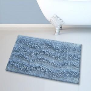 Πατάκι Μπάνιου (45x70) Ανοιχτό Μπλε Cotton Waves San Lorentzo (1404LBLUE)