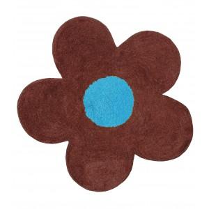 Πατάκι Μπάνιου (60x60) San Lorentzo DBL Face Daisy Brown/Turquoise 1444BR/TYRK