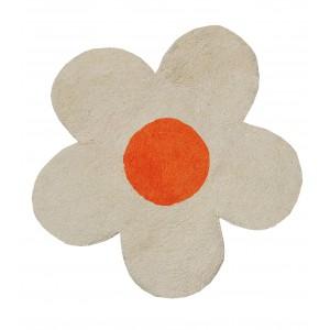 Πατάκι Μπάνιου (60x60) San Lorentzo DBL Face Daisy Εκρού/Πορτοκαλί 1444EKRU/ORA