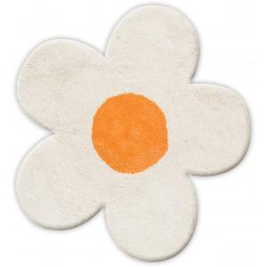 Πατάκι Μπάνιου (60x60) San Lorentzo DBL Face Daisy White/Orange 1444WH/OR