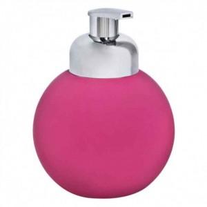Marva Rubber Dispenser-Σαπουνοθήκη Σφαίρα Φούξια