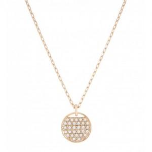 Swarovski Κολιέ Επίχρυσο σε ροζ χρυσό-λευκές πέτρες,Ginger(5265913)