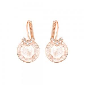 Swarovski Bella V Σκουλαρίκια Επίχρυσα σε ροζ χρυσό Τρυπητά Κρεμαστά-Ροζ Χρυσό Πέτρα,(5299318)