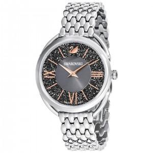 Swarovski Ρολόι Με Μεταλλικό Μπρασελέ Επιπλατινωμένο Με Μαύρο Ροζ Χρυσό Καντράν Crystalline Glam Watch, Metal Bracelet 5452468