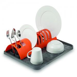 Πλαστική πιατοθήκη πορτοκαλί 45.5x34.5cm 10-014-040