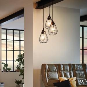 Eglo Φωτιστικό Οροφής Tarbes Black 94191