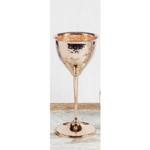 Ποτήρι Κρασιού Επάργυρο Σφυρήλατο Ροζ Χρυσό (230005G)