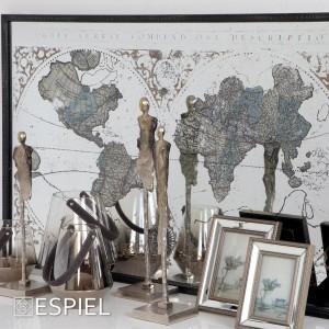 Κορνίζα Με Καθρέφτη Ασημί 15x20εκ Espiel (NAZ112)