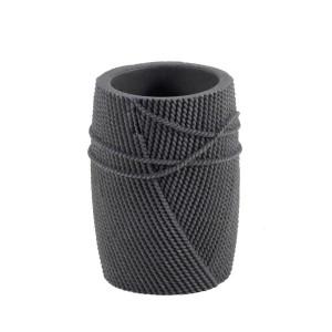 Ποτήρι Οδοντόβουρτσας Marva Rope Grey Polyresin 478169