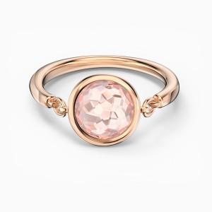 Swarovski Δαχτυλίδι Νο55 Επίχρυσο Ροζ Χρυσό, Thalia Pink (5560948)