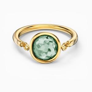 Swarovski Δαχτυλίδι No55 Επίχρυσο Κίτρινο Χρυσό, Thalia Green (5560945)