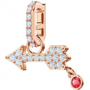 Swarovski Τσαρμ Επίχρυσο Τόξο Remix Collection Charm Arrow, White, Rose gold plating, 5441402