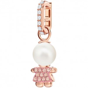 Swarovski Τσαρμ Ροζ Επίχρυσο Remix Collection Girl Charm, Pink, Rose gold plating, 5468570