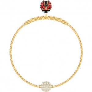 Swarovski Βραχιόλι Επίχρυσο Κίτρινο Χρυσό Remix Collection Ladybug (5466832)