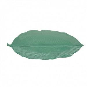 Πιατέλα Ανοιχτό Πράσινο 39x16εκ Leaves Πορσελάνη (2050LELG)