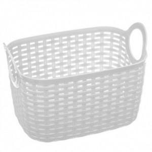 Βaltik Καλάθι Αποθήκευσης Λευκό 24,5x16,5x16 Πλαστικό (151580B)