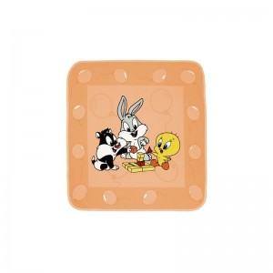 Baby Looney Tunes Κουβέρτα Φανελένια Σε Ροζ Χρώμα 90x90 36-1722/46