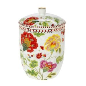 Μπισκοτιέρα Πορσελάνη 1.75 Lt Floral Grey Cryspo Trio 1420158