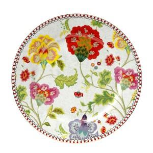 Πιάτο Γλυκού Πορσελάνινο 17 Εκ. Floral Grey Cryspo Trio 1420104