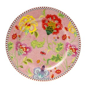 Πιάτο Γλυκού Πορσελάνινο 17 Εκ. Floral Pink Cryspo Trio 1422104