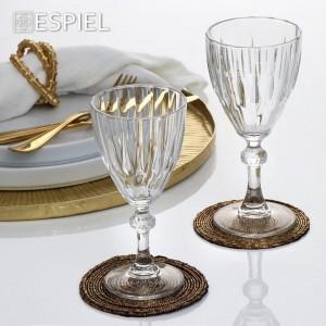 Σετ 6τμχ Ποτήρια Κολονάτα Κρασιού 190ml Diamond Espiel (SP44757K6)