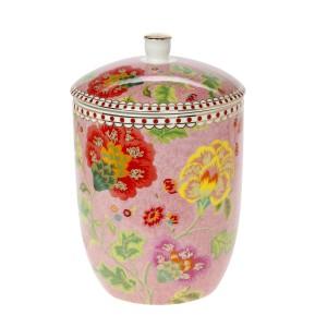 Μπισκοτιέρα 1.3 Lt Πορσελάνη  Floral Pink Cryspo Trio 1422155