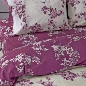 Nima Home Carmelita Pink 100% Cotton,Σετ Υπέρδιπλη Παπλωματοθήκη(220χ240εκ.)&2 Μαξιλαροθήκες(52χ72εκ.)