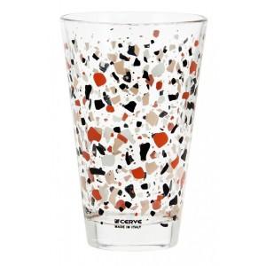 Σετ 3 Τεμ. Ποτήρια Σωλήνα Terrazzo Rosso Marva (M81190)