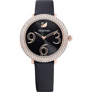 Swarovski Ρολόϊ Crystal Frost Leather Strap Black PVD (5484058)