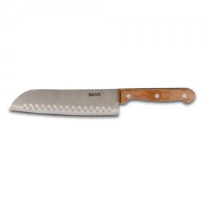 "Aνοξείδωτο ατσάλινο μαχαίρι Santoku ""Terrestrial"" με ξύλινη λαβή 29.5cm 10-058-053"