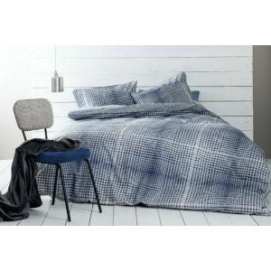Nima Home Ricardi Blue  100% Cotton,Σετ Υπέρδιπλη Παπλωματοθήκη(220χ240εκ.)&2 Μαξιλαροθήκες(52χ72εκ.)