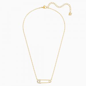 Swarovski Κολιέ Επίχρυσο Κίτρινο Χρυσό, So Cool Pin (5512760)