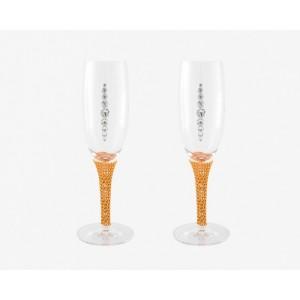 Σετ 2 Ποτήρια Σαμπάνιας Με Swarovski MSW ΣΣ-Κ 674858
