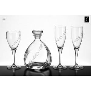 Σετ Γάμου 4 Τμχ Καράφα, Ποτήρι Κρασιού & 2 Ποτήρια Σαμπάνιας Capolavoro G22