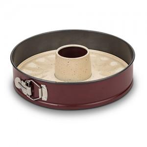 """Φόρμα κέικ αποσπώμενη """"Terrestrial"""" με αντικολλητική κεραμική επίστρωση Υ7x28cm 10-103-047"""
