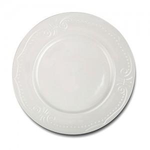 Πιάτο ρηχό πορσελάνινο με ανάγλυφο σχέδιο 27cm 10-153-030