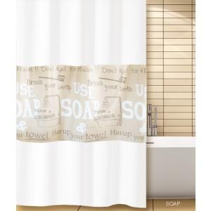 Κουρτίνα μπάνιου (180X200) Soap San Lorentzo (2044)